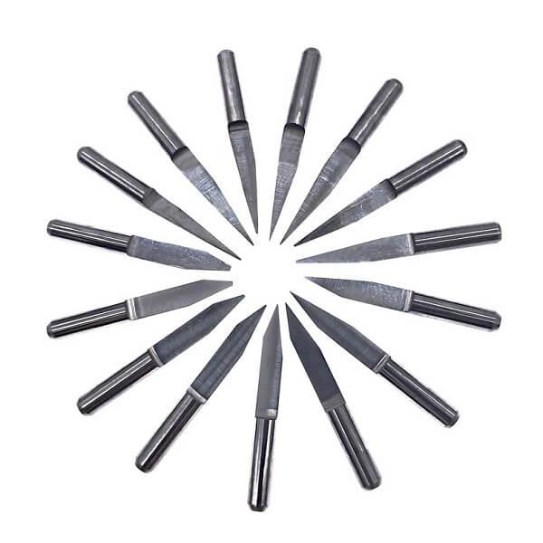 Фреза, гравер конический с прямой полкой 0.1-0.3 мм (Угол 10 градусов, D=3.15мм)