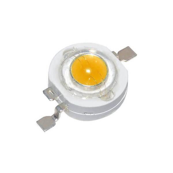 Светодиод Тёплый белый LED 3W 3.2-3.4V 3000-3500k