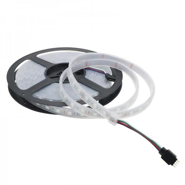 Светодиодная лента RGB SMD 5050 IP68 (в силиконовом профиле) 5 метров