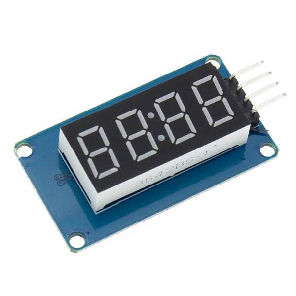 Семисегментный 4-разрядный LED-индикатор с драйвером TM1637