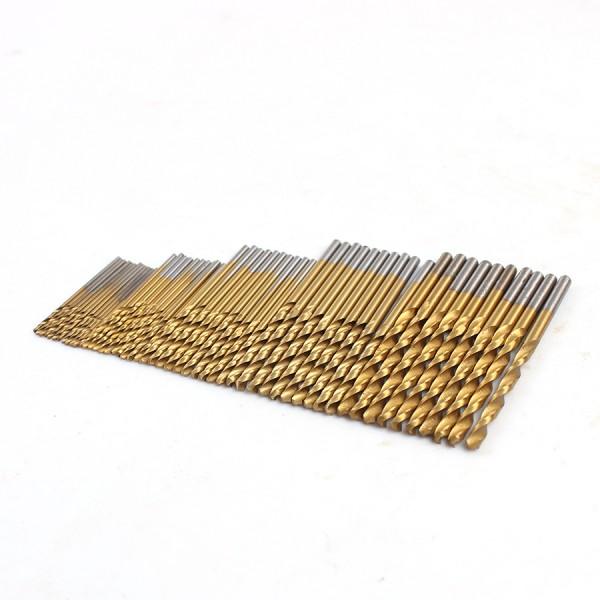 Набор сверл для печатных плат 1.0 / 1.5 / 2.0 / 2.5 / 3.0 мм  (50 шт.)