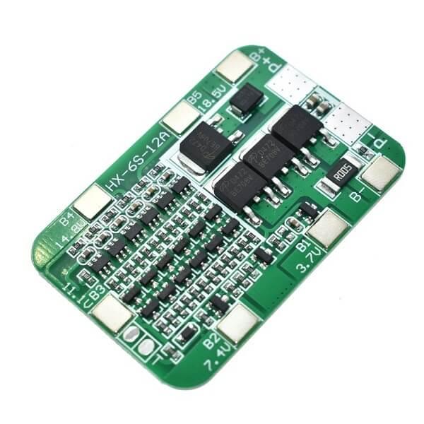 Контроллер Заряда/Разряда BMS 6S 24V 15A для Li-ion с балансировкой